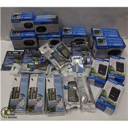 BOX OF ASSORTED AQUARIUM PIECES INCL AIR FILTERS,