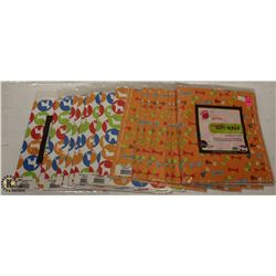 LOT OF PET FRIENDLY WRAPPING PAPER.