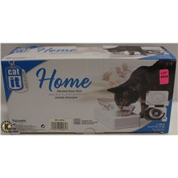 CATIT HOME ELEVATED GLASS DINNER DISH.