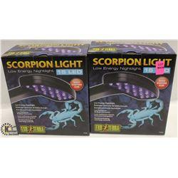 LOT OF 2 EXOTERRA SCORPION LIGHTS LOWER ENERGY