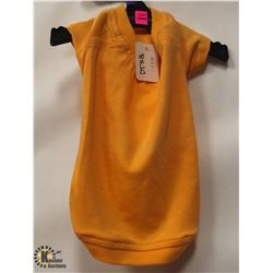 ORANGE COTTON PET SHIRT SIZE MEDIUM.