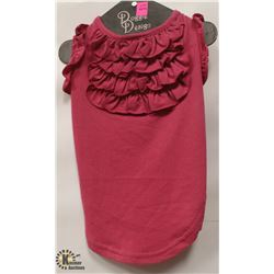PINK RUFFLE PET SHIRT SIZE SMALL/MEDIUM.