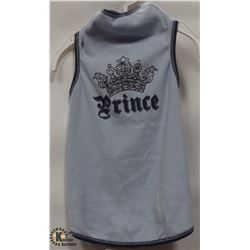 """PRINCE"" BLUE SPARKLE PET T-SHIRT SIZE LARGE."