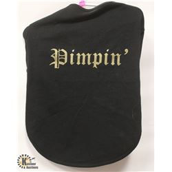 """PIMPIN"" BLACK PET SHIRT SIZE X-LARGE."