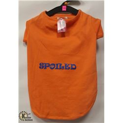 """SPOILED"" ORANGE PET T-SHIRT SIZE X-LARGE."