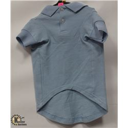 BASIC POLO PET SHIRT BLUE SIZE SMALL/MEDIUM.