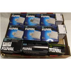 FLAT OF ASST FLUVAL ITEMS INCL AMMONIA REMOVER,