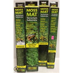 4 BOXES OF EXOTERRA MOSS MATS, MEDIUM AND SMALL,