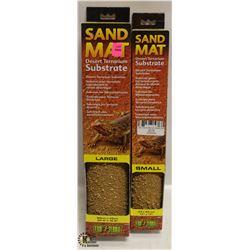 2 BOXES OF EXOTERRA SAND MATS, DESERT TERRARIUM