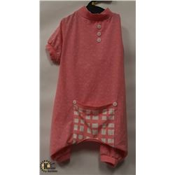 PINK PET ONESIE SIZE X-LARGE.