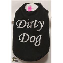"""DIRTY DOG"" PET SHIRT SIZE SMALL."