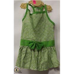 GREEN MS DAISY PET DRESS SIZE SMALL.