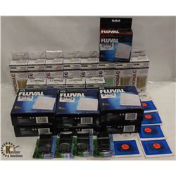 BOX OF FLUVAL PRODUCTS INCL REPLACEMENT FILTER