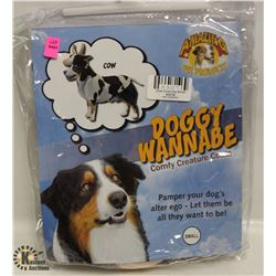 DOGGY WANNABE COW COSTUME SIZE SMALL