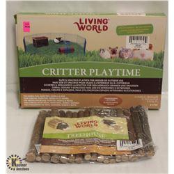 LIVING WORLD CRITTER PLAYTIME & TREEHOUSE.