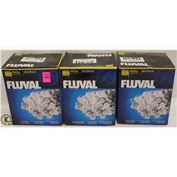 3 BOXES OF FLUVAL BIOMAX 1100G PER BOX