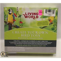 LIVING WORLD CREATE YOUR OWN BIRD TOYS.