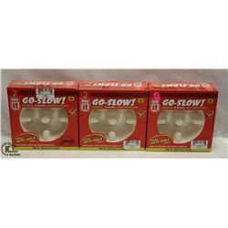 LOT OF 3 DOGIT GO-SLOW ANTI-GULPING DISH SIZE