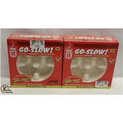 LOT OF 2 DOGIT GO-SLOW ANTI-GULPING DISH SIZE