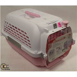 DOGIT PINK & WHITE VOYAGEUR SMALL PET CARRIER