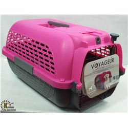 DOGIT PINK & GREY VOYAGEUR MEDIUM PET CARRIER
