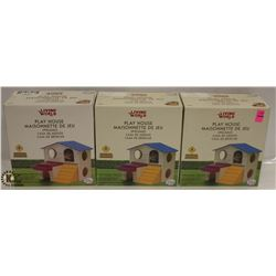 LOT OF 3 LIVING WORLDS PLAY HOUSE