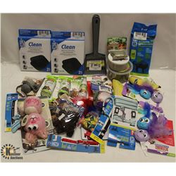 LOT OF ASSORTED CAT PRODUCTS INCLUDING CATNIP,