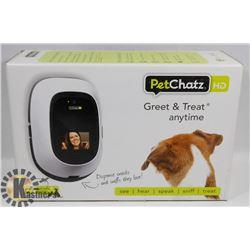 PET CHATZ HD GREET & TREAT SNACK DISPENSER