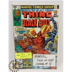 """MARVEL COMICS 2 IN 1 ANNUAL """" THE THING AND BLACK"""