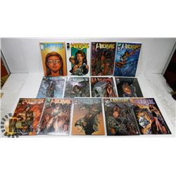 LOT OF 13 ASSORTED WITCHBLADE COMIC BOOKS