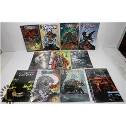 11 ASSORTED SPAWN COMIC BOOKS IN THE #50-75 ISSUE