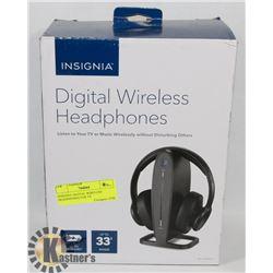 INSIGNIA DIGITAL WIRELESS HEADPHONES FOR TV