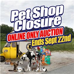 BID NOW ON THE ONLINE ONLY PET STORE AUCTION!