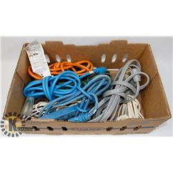 LARGE LOT OF HOUSEHOLD & GARAGE EXTENSION CORDS