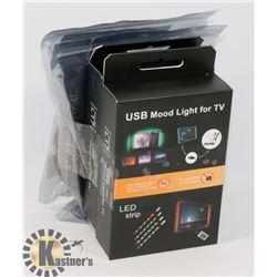LOT OF 4 NEW TV/GAMING MONITOR  LED LIGHT KITS