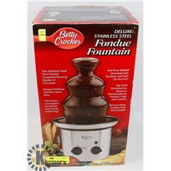 BETTY CROCKER DELUXE STAINLESS STEEL FONDUE