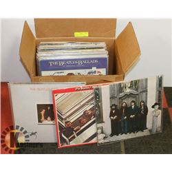 BOX OF RECORDS, MOSTLY BEATLES.
