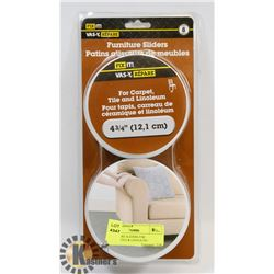 FURNITURE SLIDERS FOR CARPET,TILE & LINOLEUM /