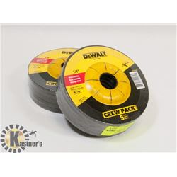 "LOT OF 10 DEWALT / 4-1/2"" X 1/4"" GRINDING DISCS"