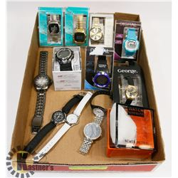FLAT OF 12 WATCHES AND 1 STRAP