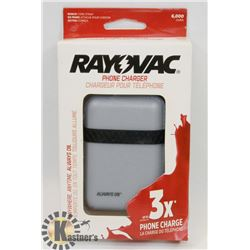 NEW RAYOVAC 6000 MAH POWER BANK / PHONE