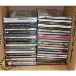 BOX OF 40 CDS INCL ROXETTE, INXS, BEYONCÉ, SOUL