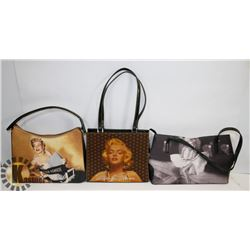 LOT OF THREE MARILYN MUNROE PURSES