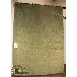 6) SUPER SHAG GREEN CARPET 8X11