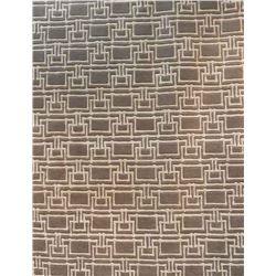 113) DESIGNER BROWN/BLACK, 5X8 MODERN CARPET,
