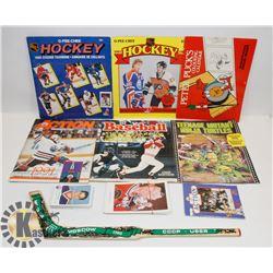 HOCKEY & BASEBALL STICKER BOOKS RED ROOSTER