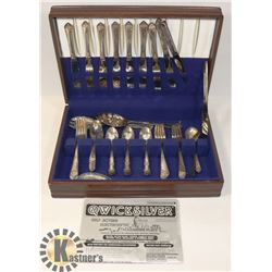 ESTATE SET OF SILVERWARE INCLUDING