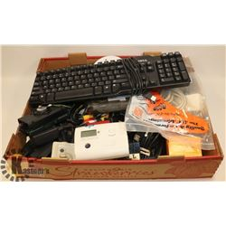 FLAT OF ELECTRONICS INCLUDING DELL KEYBOARD,