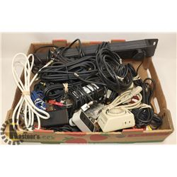 FLAT OF ASSORTED CABLES, HEAVY DUTY EUROPEAN POWER