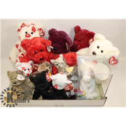 FLAT OF ASSORTED COLLECTOR BEANIE BABIES & BEANIE